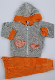 Picture tracksuit kitten hood here we are. Colour orange, size 3-6 months