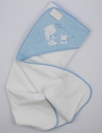 Picture accompanying baby bath bears family cotton. Colour light blue, one size