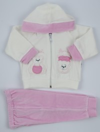 Picture Coverall Hooded Friends Bears. Colour pink, size 6-9 months
