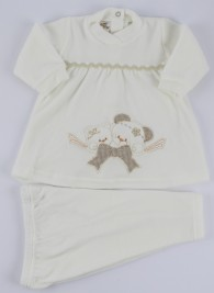 image baby footie outfit clinical chenille jib. Colour creamy white, size 3-6 months