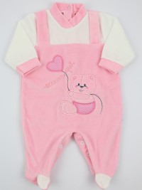 Picture baby chenille footie here I am. Colour pink, size 9-12 months