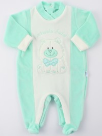 Picture baby footie chenille smallcolobeb. Colour green, size 1-3 months