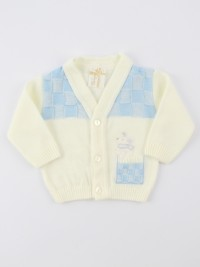 Picture accompanied jacket mixed wool topino. Colour creamy white, size 0-1 month