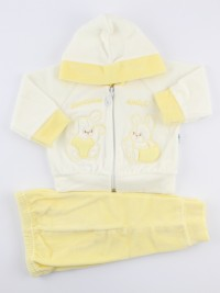 Picture hood suit we become friends. Colour yellow, size 0-1 month