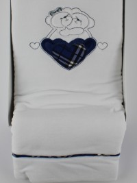 Image cover cradle in chenille tender embrace. Colour blue, one size