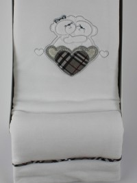 Image cover cradle in chenille tender embrace. Colour grey, one size