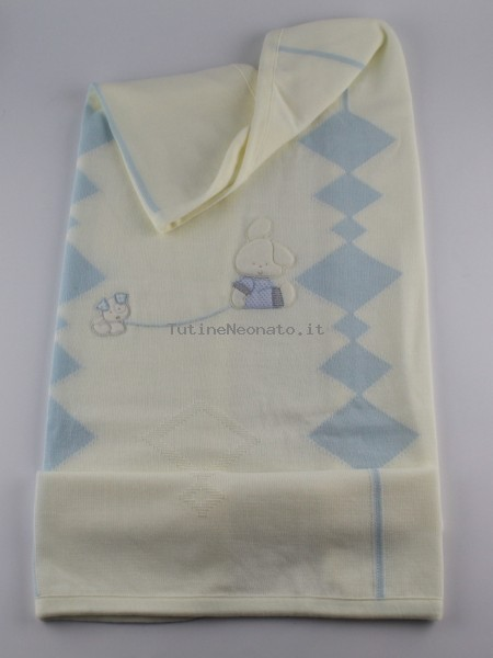 Image cover cradle in mixed wool bunny. Colour creamy white, one size Creamy white One size