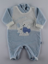 Picture baby footie in my little chenille. Colour light blue, size 1-3 months