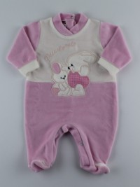 Picture baby footie in my little chenille. Colour pink, size 3-6 months