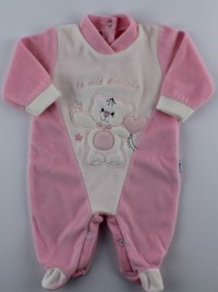 Picture baby footie chenille my friends. Colour pink, size 3-6 months
