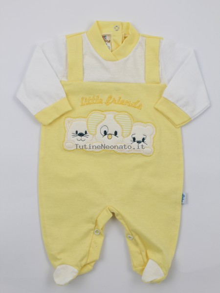 Image baby footie jersey small friends. Colour yellow, size 3-6 months Yellow Size 3-6 months