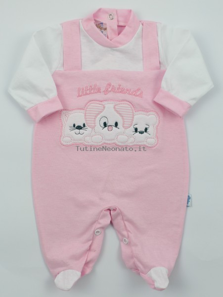 Image baby footie jersey small friends. Colour pink, size 1-3 months Pink Size 1-3 months