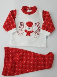 image baby outfit baby bear nostromo. Colour red, size 1-3 months