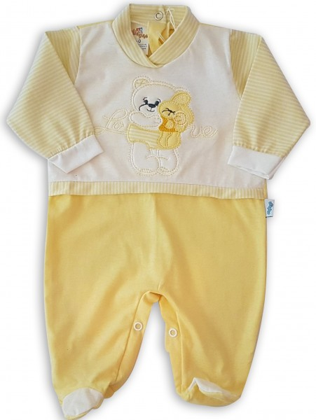 Image cotton baby footie jersey love. Colour yellow, size 3-6 months Yellow Size 3-6 months
