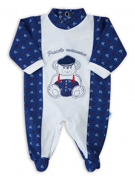 Image cotton baby footie jersey jersey small sailor. Colour blue, size 1-3 months Blue Size 1-3 months