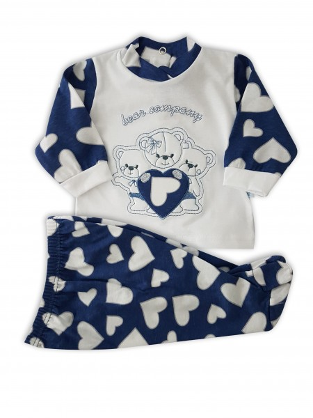 Image baby footie outfit in cotton bears company. Colour blue, size 3-6 months Blue Size 3-6 months