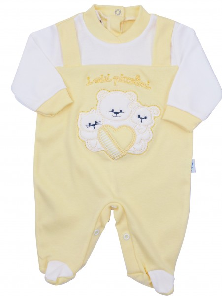 cotton baby footie interlock my babies. Colour yellow, size 3-6 months Yellow Size 3-6 months