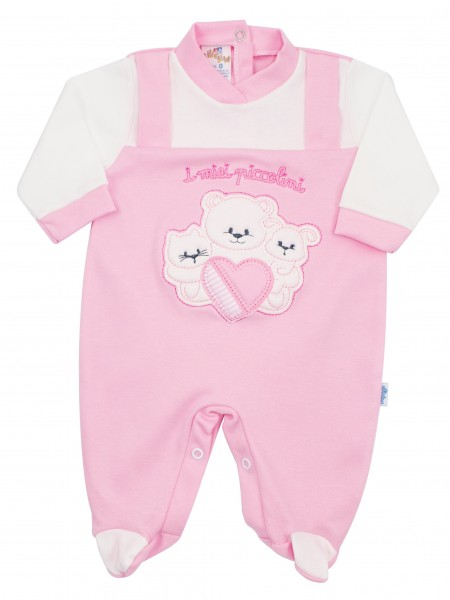 cotton baby footie interlock my babies. Colour pink, size 0-1 month Pink Size 0-1 month