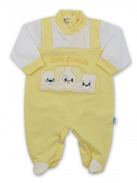 Image baby footie in jersey little friends. Colour yellow, size 3-6 months Yellow Size 3-6 months