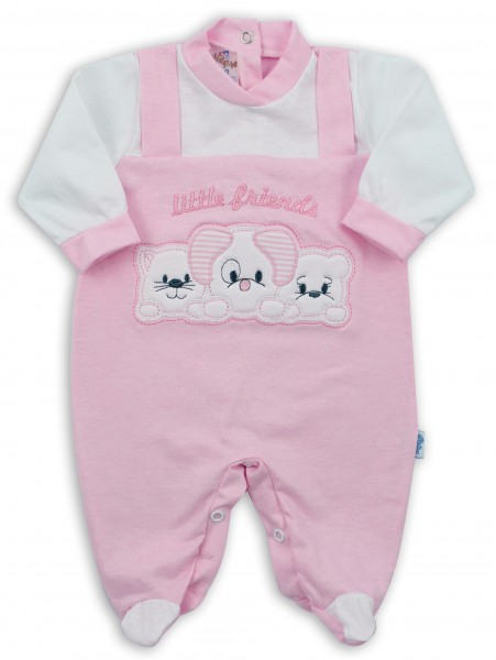 Image baby footie in jersey little friends. Colour pink, size 1-3 months Pink Size 1-3 months