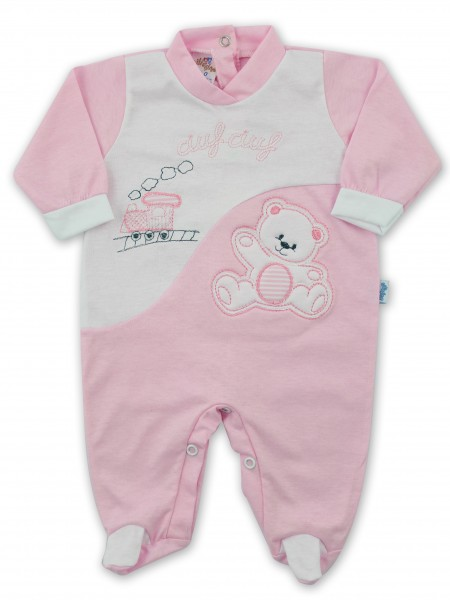 Baby footie jersey ciufciuf image. Colour pink, size 3-6 months Pink Size 3-6 months