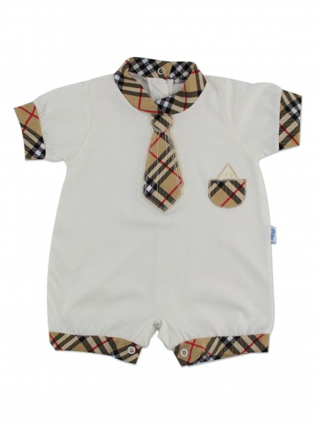 Picture baby footie straw necktie tie. Colour creamy white, size 0-1 month Creamy white Size 0-1 month