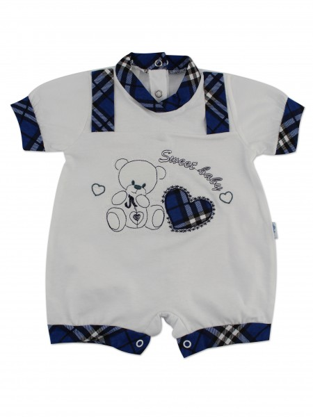 Image baby footie romper sweet baby. Colour blue, size 6-9 months Blue Size 6-9 months