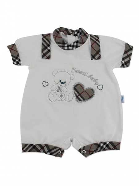 Image baby footie romper sweet baby. Colour grey, size 6-9 months Grey Size 6-9 months