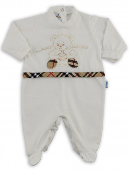 Picture cotton baby footie jersey drinking the l.... Colour creamy white, size 1-3 months Creamy white Size 1-3 months