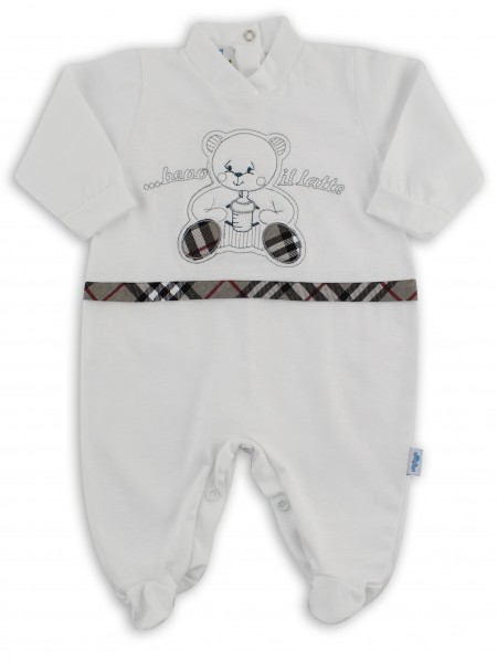 cotton baby footie jersey drink the l.... Colour grey, size 00 Grey Size 00