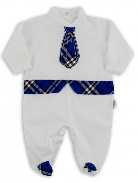 Baby footie image in jersey Scottish tie. Colour blue, size 3-6 months Blue Size 3-6 months