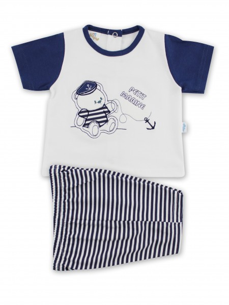 Picture baby footie outfit jersey le petit marine. Colour white, size 1-3 months White Size 1-3 months