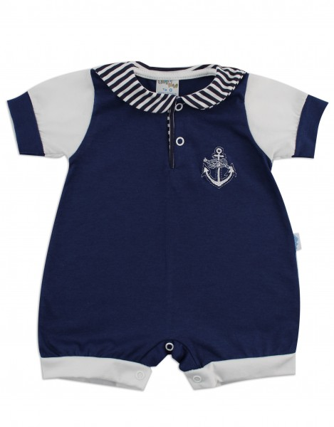 baby footie romper polo again. Colour blue, size first days Blue Size first days