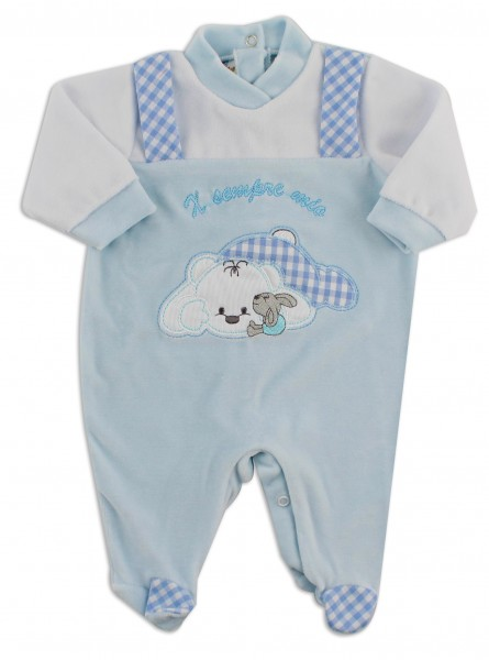 Picture baby chenille footie x always my. Colour light blue, size 6-9 months Light blue Size 6-9 months