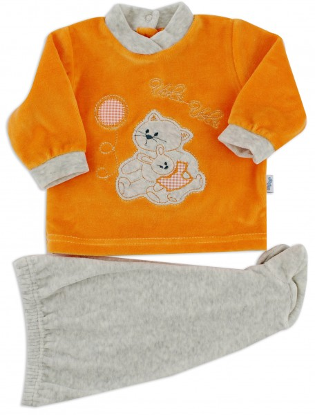Picture baby footie chenille outfit flies balloon. Colour orange, size 0-1 month Orange Size 0-1 month