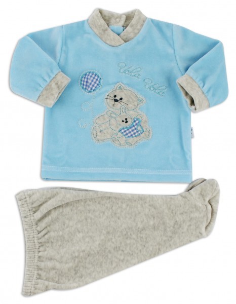 baby footie outfit chenille flies balloon. Colour turquoise, size 3-6 months