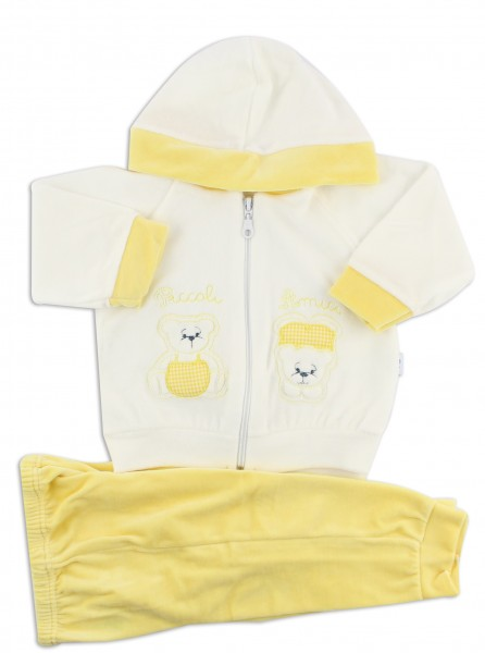 Picture Coverall Hooded Friends Bears. Colour yellow, size 0-1 month Yellow Size 0-1 month