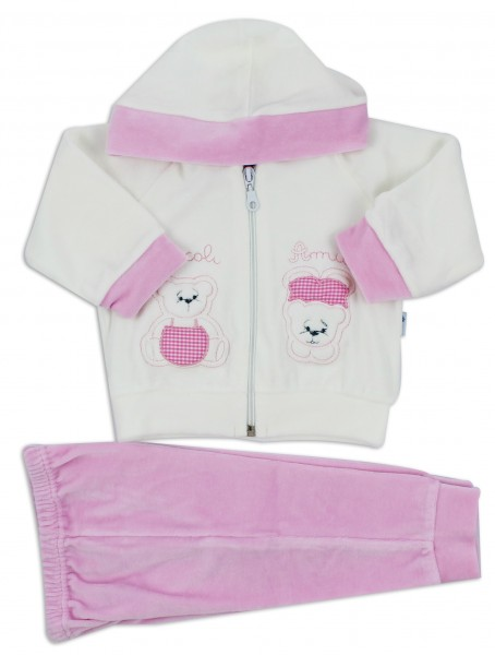 Hoodsuit Teddy Bears Friends. Colour pink, size 00 Pink Size 00