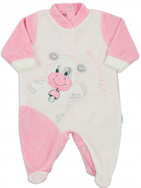 baby footie chenille cow cow. Colour pink, size 3-6 months Pink Size 3-6 months