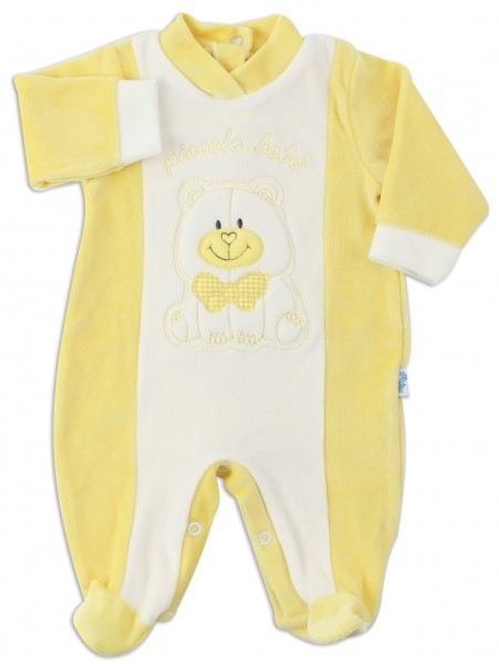 Picture baby footie chenille smallobeb. Colour yellow, size 0-1 month Yellow Size 0-1 month