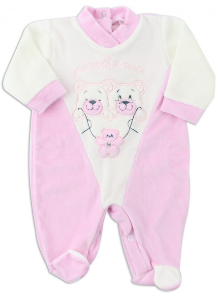 Picture baby footie chenille little friends. Colour pink, size 3-6 months Pink Size 3-6 months