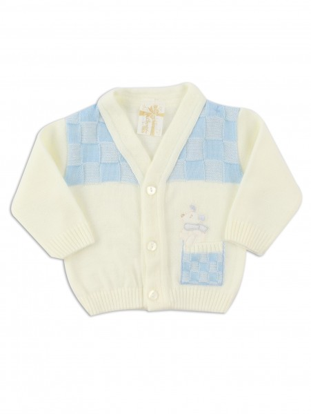 layette mixed wool mouse jacket. Colour creamy white, size 1-3 months Creamy white Size 1-3 months