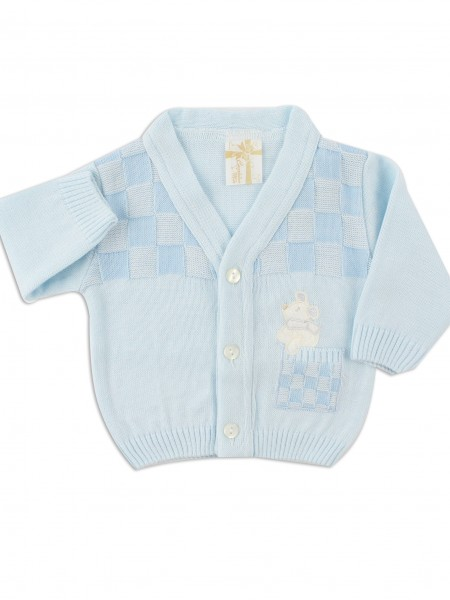 layette mixed wool mouse jacket. Colour light blue, size 0-1 month Light blue Size 0-1 month