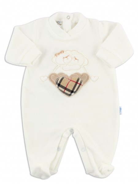 Picture baby footie chenille tender hug. Colour creamy white, size 3-6 months Creamy white Size 3-6 months