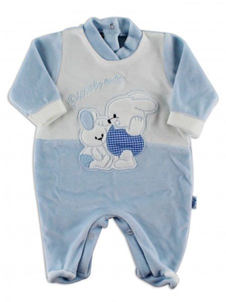 baby footie in my little chenille. Colour light blue, size 3-6 months Light blue Size 3-6 months
