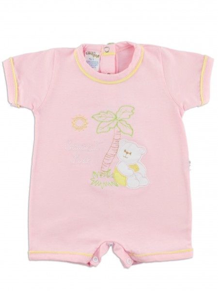 baby footie romper coast line. Colour pink, size 00
