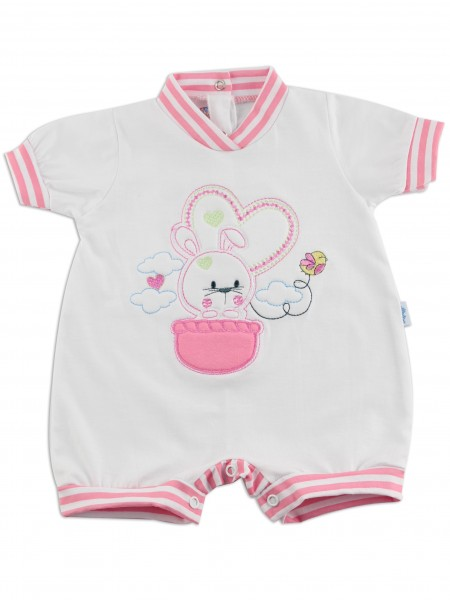 Baby Bunny Romper. Colour coral pink, size first days Coral pink Size first days
