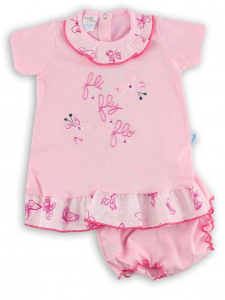 Picture baby footie outfit jersey le fli fly flo. Colour pink, size 1-3 months Pink Size 1-3 months