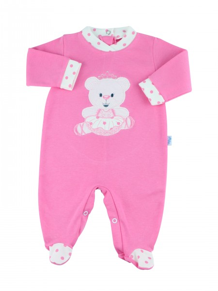 Image cotton baby footie interlock dancer. Colour coral pink, size 6-9 months Coral pink Size 6-9 months