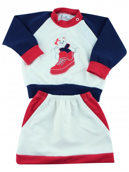 Baby footie outfit in cotton sneakers. Colour creamy white, size 0-1 month Creamy white Size 0-1 month